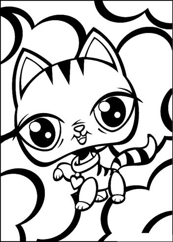 Desenhos para colorir Littlest Pet Shop