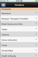 Screenshot of Gulf Coast Wedding Guide