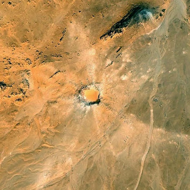Kamil Crater: A Meteorite Impact Crater Found with Google Earth