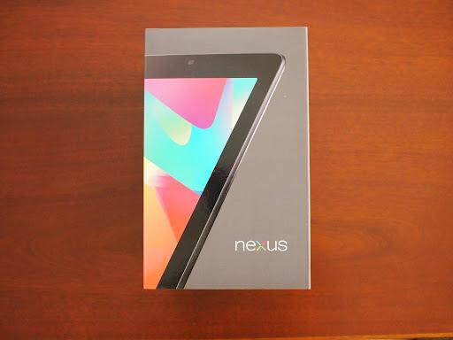 [写真]Nexus7パッケージ