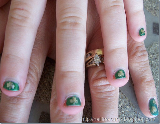 Her Daughter Bites Nails So They Were Extra Short And A Bit Of Challenge But Most Them Came Out Pretty Nice Hy St Patrick S Day Everyone
