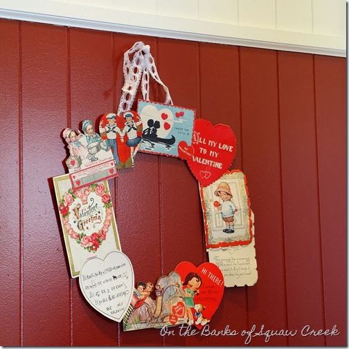 Vintage Valentines Wreath