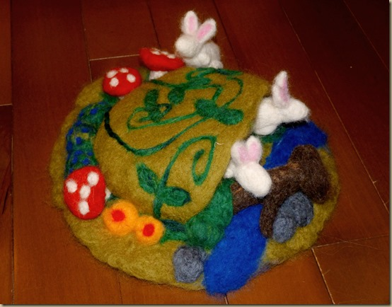 Needle felted Spring Play Set From Homeschool Mo 4
