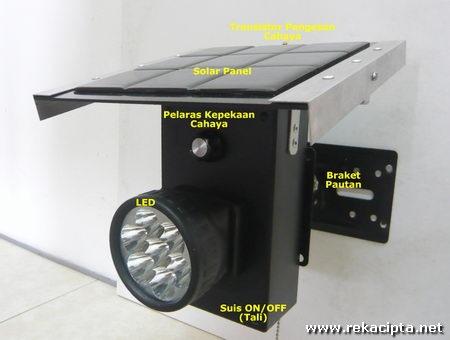 Rekacipta.net - bahagian lampu solar