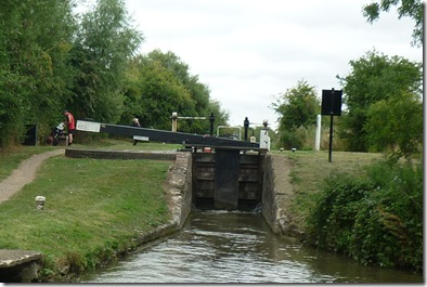 dukes lock with cyclist