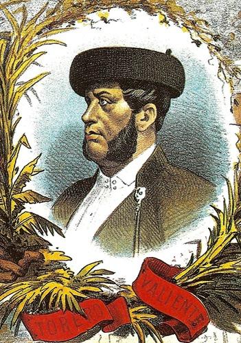 1884-05-19 La lidia Manuel Dominguez (Detalle retrato)