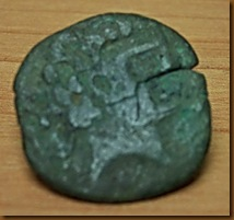 Moneda de peña Izaga - anverso