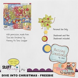 Mommy Me Time Scrapper - Dive into Christmas - Cluster Freebie Preview