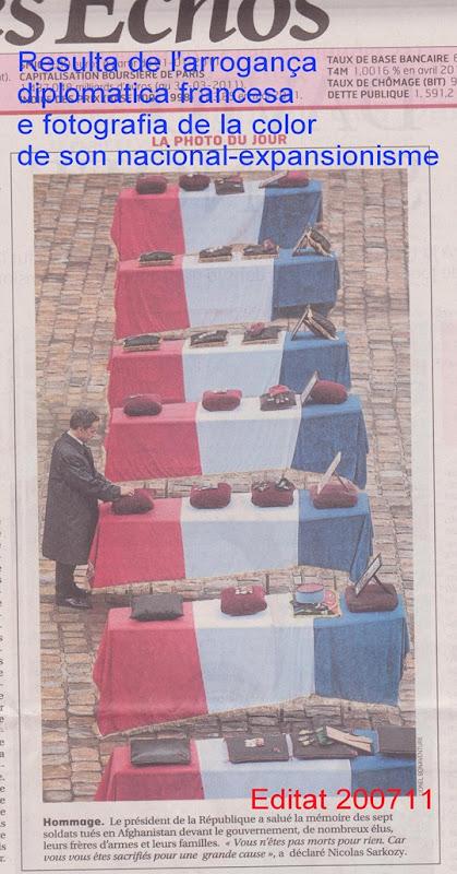 colors de l'arrogança nacionalista francesa