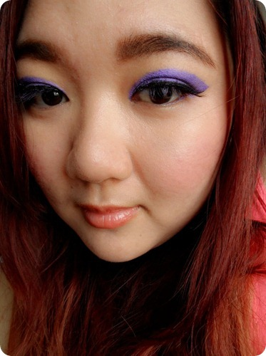 Priscilla Clara beauty blogger IBB MUC Maybelline Color Tattoo Painted Purple eye makeup FOTD 5