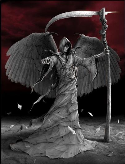 Skeleton Death Blood Red Night
