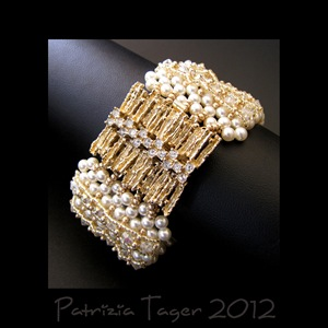 Diamond & Pearls Rib Bracelet 03 copy