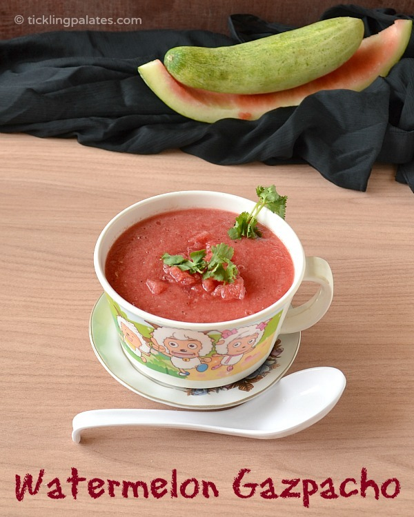 Watermelon Gazpacho Recipe | Cold Summer Soup Recipes | Tickling ...