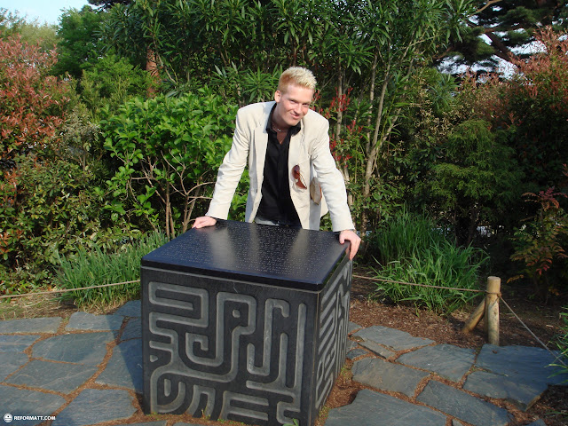 magical cube and matt from laputa castle in the sky in Mitaka, Tokyo, Japan