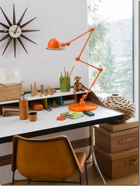 office-orange-lamp