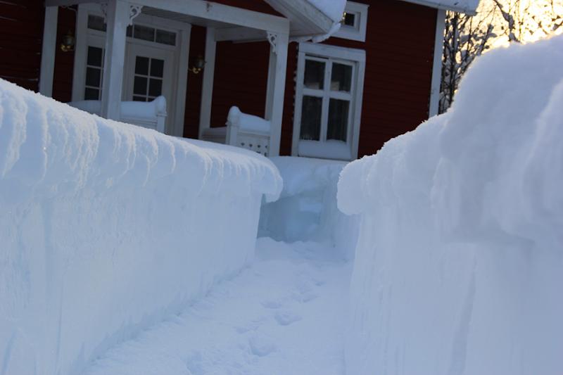 Massor av snö