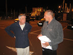 Treffpunkt mit dem CS&PF Observer dem Bob Dienstag 1:00 AM vor der Dover Marina. - Metting with the observer Bob tuesday, 1:00 AM in front of the Dover Marine Office.