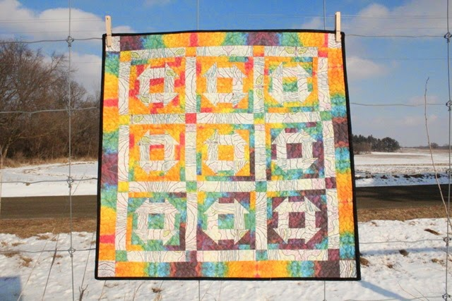 Chubby Churn Dash Quilt by Kim Lapacek of Persimon Dreams
