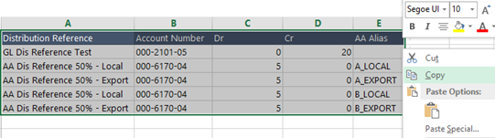 Excel - Data Set