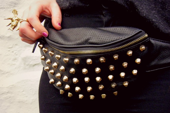 ASOS studded bum bag