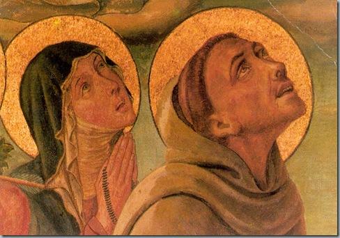 Simone Martini (1284-1344)- Painting of Saint-Francis-Saint-Clare
