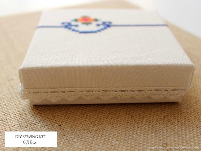 DIY Sewing Kit Gift Box - homework