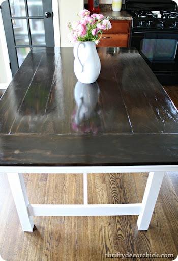 Awesome IKEA Table Turned Farmhouse Table