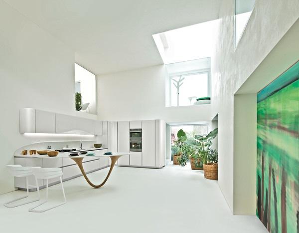 Muebles de cocina de Diseño contemporáneo en tonos blancos | ArQuitexs