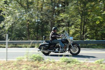 バイク流し撮り