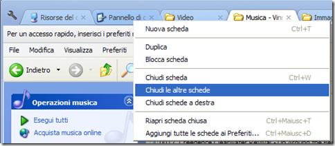 Clover 2 gestione schede con il menu contestuale