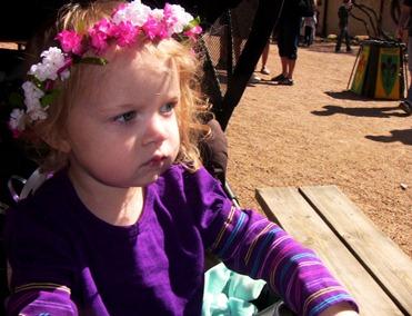 Vivian in her garland