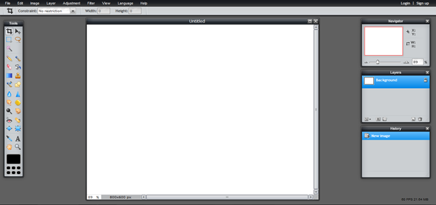 pixlr web based application
