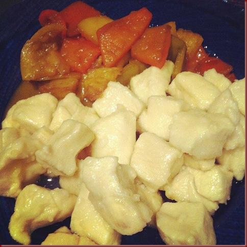 pollo al limone e peperoni in agrodolce