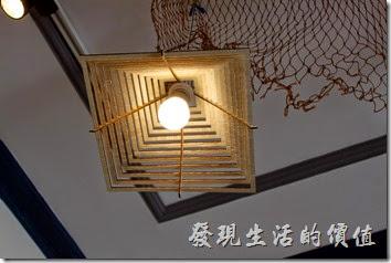台南安平-運河路7號-創意市集 民宿。這個是燈罩。