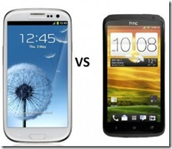 Samsung Galaxy S3 vs HTC One X