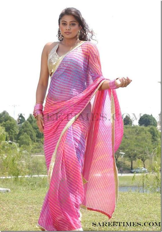 Priyamani_Pink_Designer_Saree