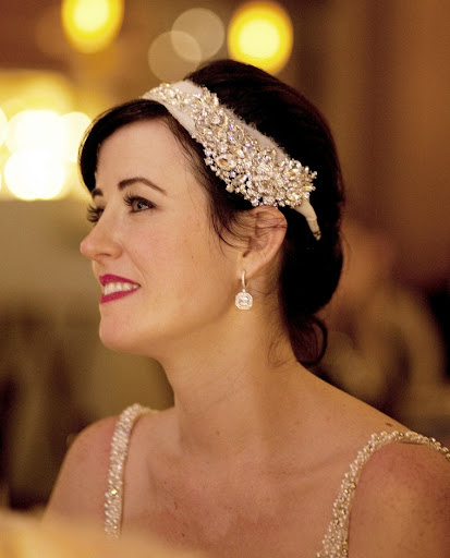 I swapped my veil for a headpiece by Twigs & Honey's Myra Callan.