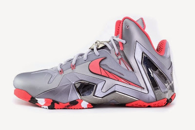 nike lebron 11 ps elite silver crimson camo 4 02 Release Reminder: Nike LeBron XI Elite Team Collection