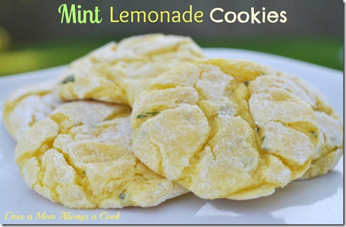 Mint Lemonde Cookies
