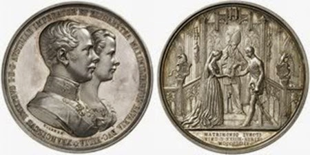 Medalla conmemorativa de su boda con Francisco José