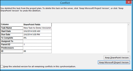 Enable Version Control for your Project Schedule in Project 2013 and