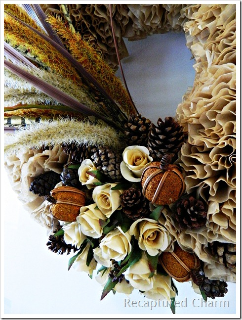 Fall Coffee Filter Wreath 017a