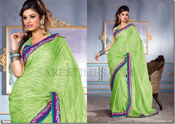 Green_Chiffon_Saree