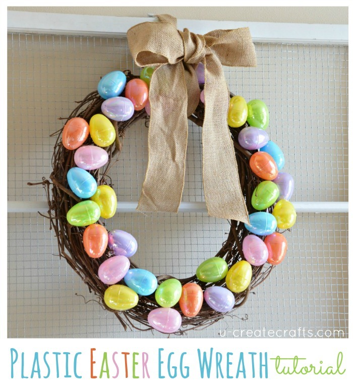 Plastic Easter Egg Wreath Tutorial - UCreate