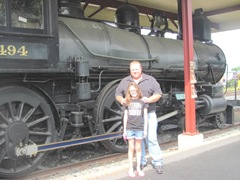 8.8.11 VT Tommy and Lily at the train