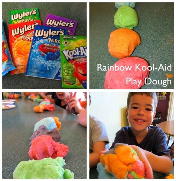 Rainbow Kool-Aid Play Dough