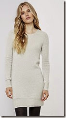 Cashmere Tunic in Silver Grey