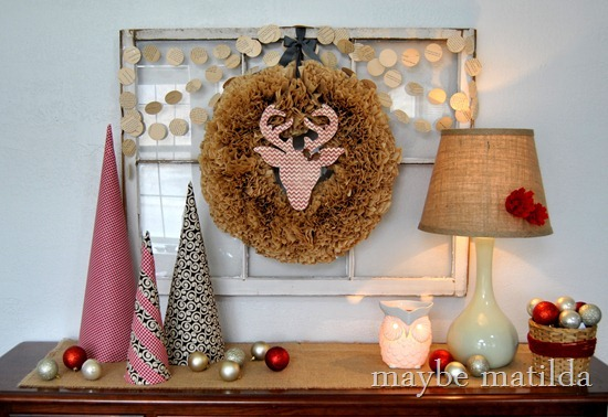 Rustic Woodsy Christmas Vignette