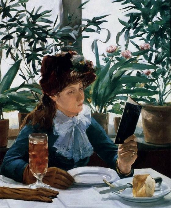 La Lecture Au Cafe, 1863, Alexandre-Auguste Hannotiau
