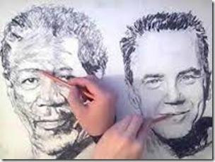 desen cu ambele maini